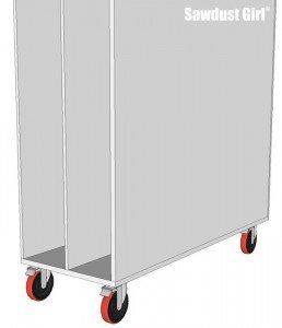Lumber Storage Unit on Wheels - step9