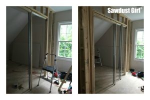 How to install a pocket door ~ https://sawdustgirl.com