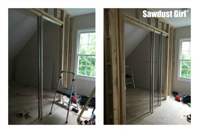 how to cut a doorframe into a wall