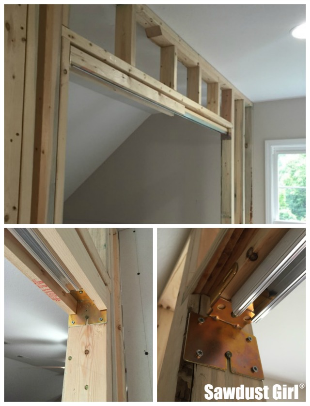 how to install a pocket door frame httpssawdustgirlcom