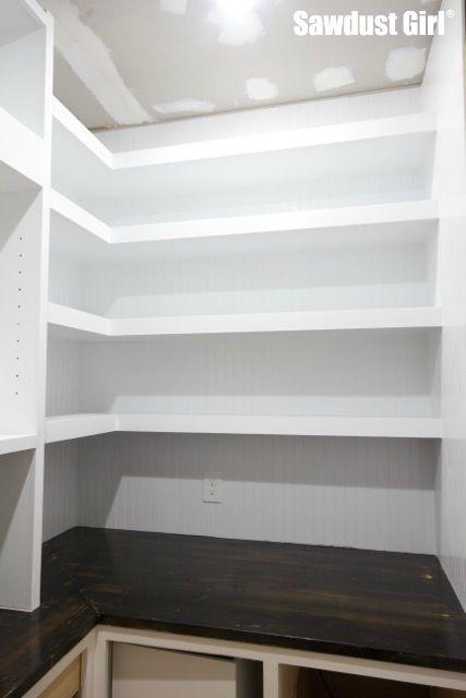 Pantry Floating Shelves Sawdust Girl 174