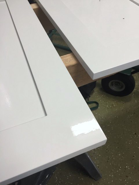 Cabinet Door prep and painting