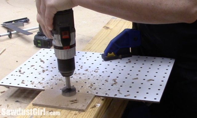 Adjustable Pegboard Drawer Organizer