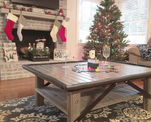 DIY scrap wood coffee table