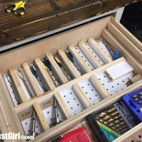 Adjustable dividers for drawer storage.