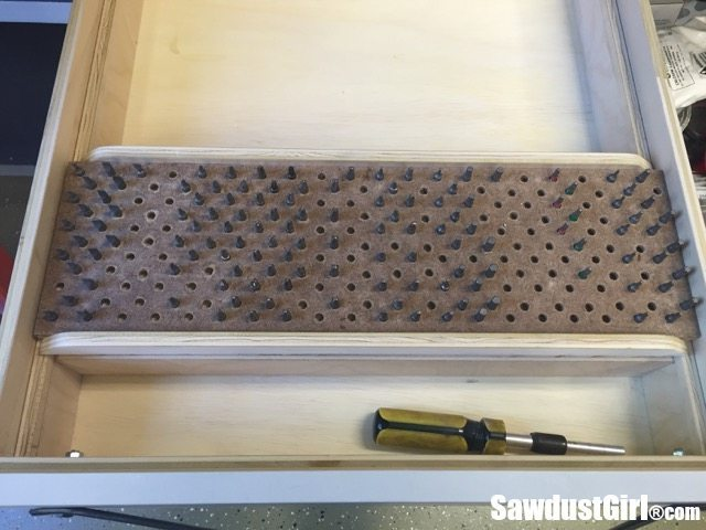 How to make a Sliding bit Storage Tray