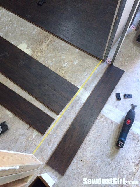 Pergo Laminate Flooring in Recording Studio
