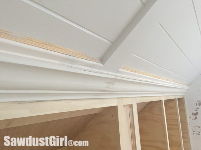 Crown Moulding on Angled Ceiling