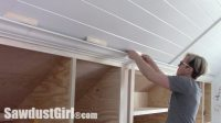 Crown Moulding on Angled Ceiling - Sawdust Girl