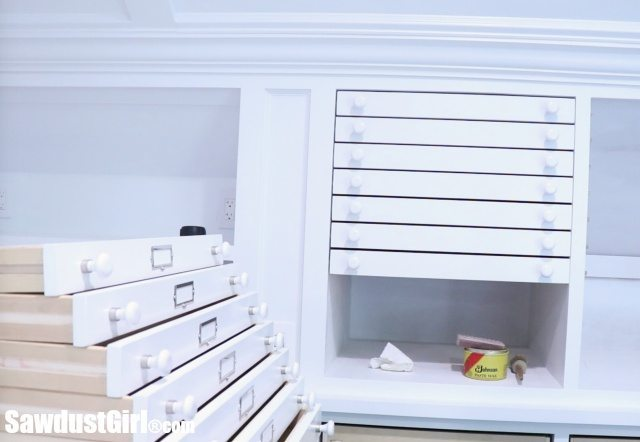 Map Drawers - Cabinet Drawer Front Installation