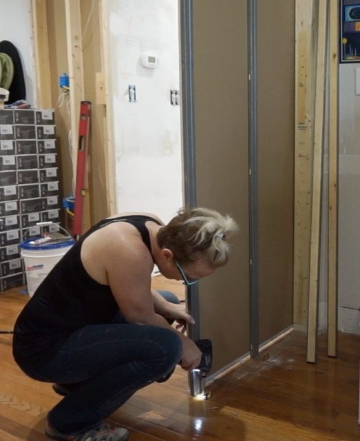 Fixing a creaky pocket door frame