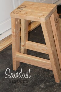 How To Build A Bar Stool Out Of Wood   Bruin Blog