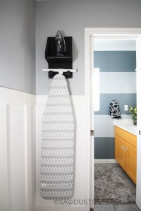 DIY Ironing Board Holder & Organizer {Free Plans