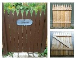 how to make a DIY garden gate feature