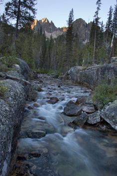 Canyon Camp Sawtooth Mountains