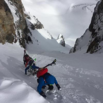 Sometimes a few inches of new can make all the difference! Great last run of this years Ski Mountaineering Camp.