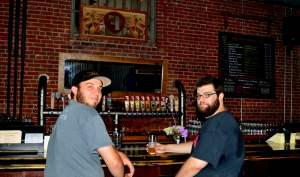 Kevin and Brian at the Fullsteam bar