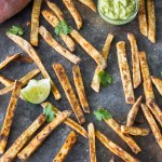 Roasted White Sweet Potato French Fries-5