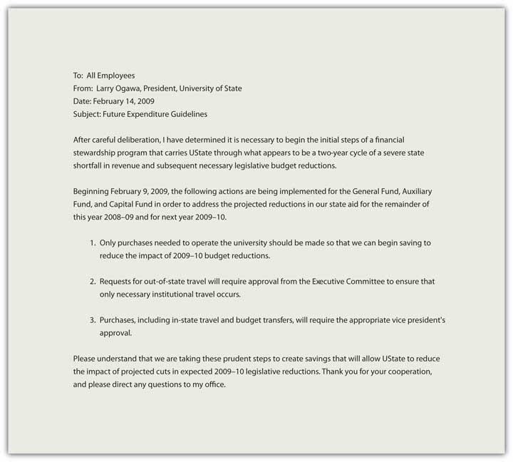 Memorandums and Letters - employees memo sample