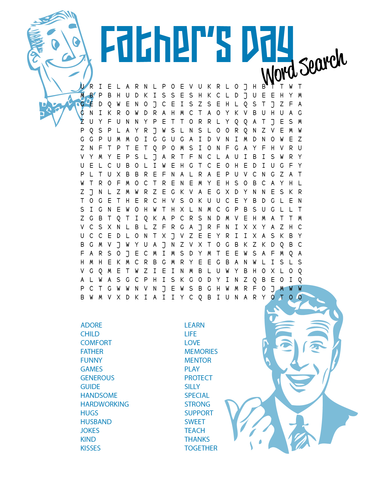 Free Father S Day Word Search