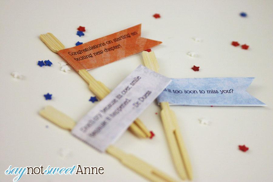 DIY Custom Cupcake Flags with Template Free Printable - Sweet Anne