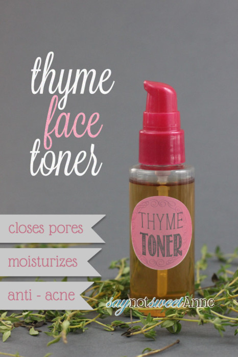 Acne Fighting Thyme Toner Recipe - Sweet Anne Designs - free printable face masks