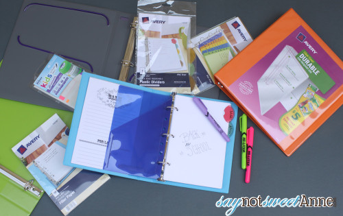 Organize for School with Printable Notebook Covers - Sweet Anne Designs