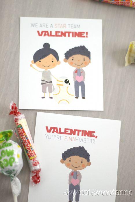 Free Printable Star Wars Valentines - Sweet Anne Designs