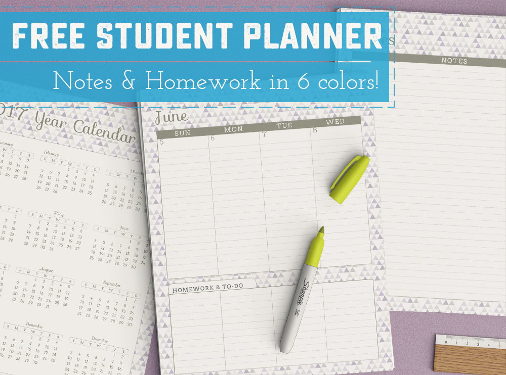Free Printable Student Planner - Sweet Anne Designs