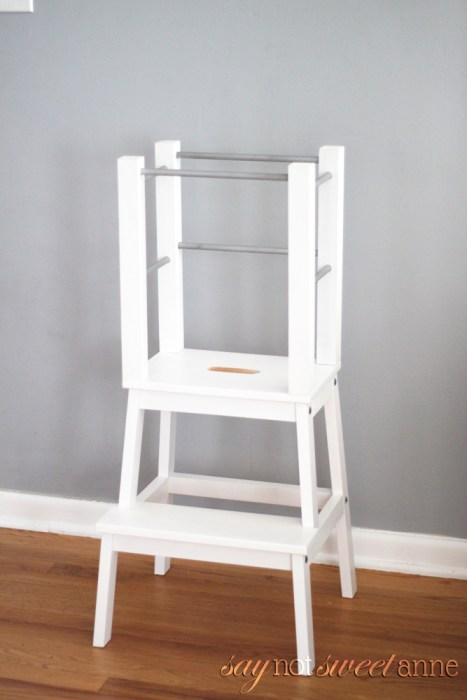easy diy learning tower sweet anne designs. Black Bedroom Furniture Sets. Home Design Ideas