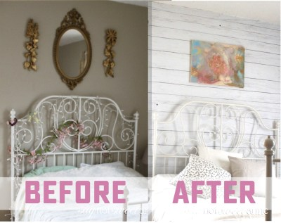 DIY Shiplap wall in 2 hours or less - Sweet Anne Designs