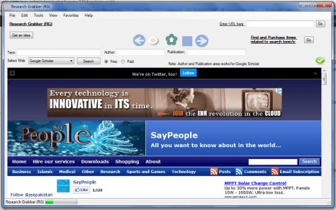 Research Grabber (RG) screenshot