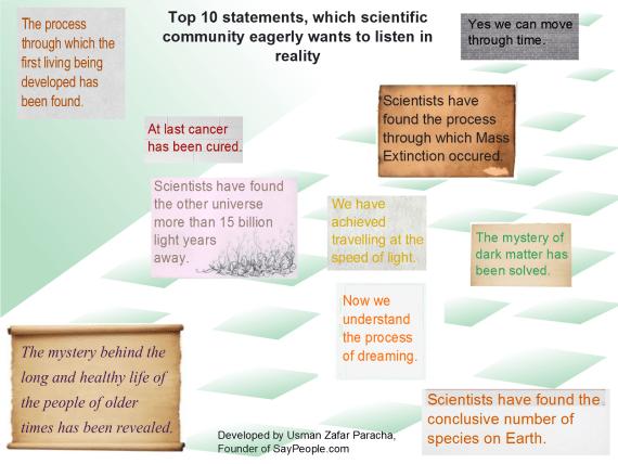 Top 10 statements scientific community wants to listen