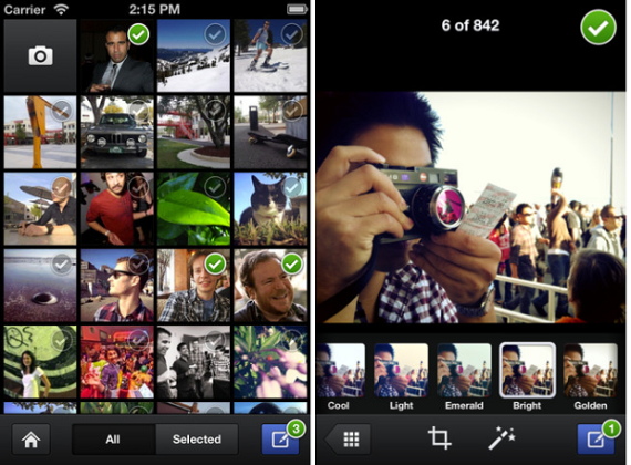 Facebook Camera app updated