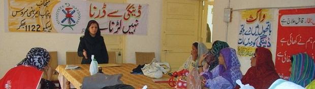 Miss Azra Shahid talking