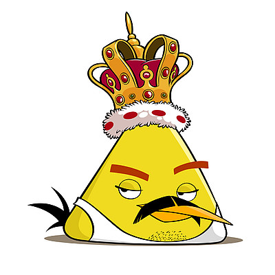 Angry birds honorary character