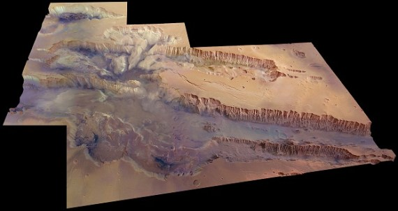 Valles Marineris in near true color (Credit: ESA/DLR/FU Berlin (G. Neukum))