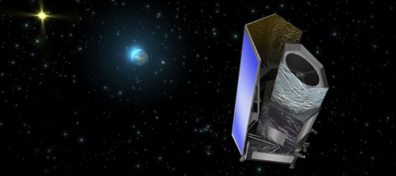 Artist's impression of the Euclid spacecraft (Credit: ESA/C. Carreau)