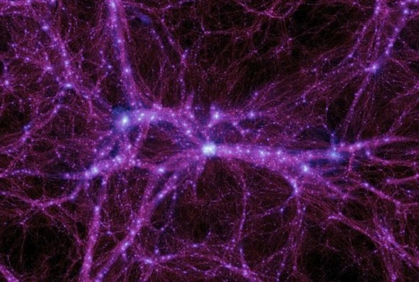 Simulation of networking of filaments between galaxies (Credit: Michael Boylan-Kolchin/University of California Irvine)