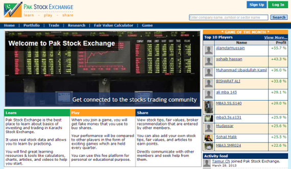 Online stock exchange trading pakistan