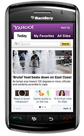 Yahoo on BlackBerry