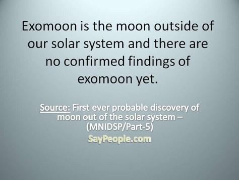 Exomoon - SayPeople
