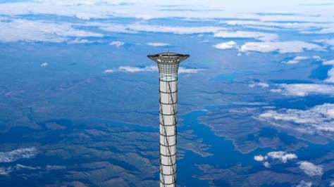 Concept of a space elevator by Thoth Technology (Source: Thoth Technology)