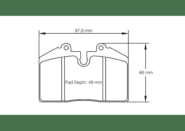 ap radical brake pad diagram
