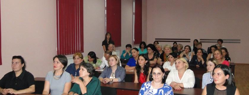 შეხვედრა პროფესიული საგანმანათლებლო დაწესებულების მასწავლებლებთან