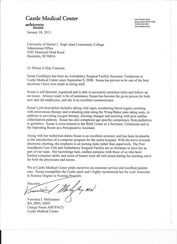 nursing program letter of recommendation - Apmayssconstruction
