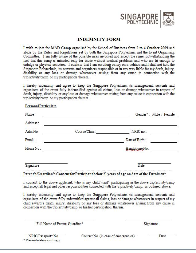 Unique Indemnity Forms Embellishment - Best Resume Examples by