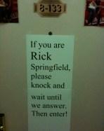 Rick Springfield Door