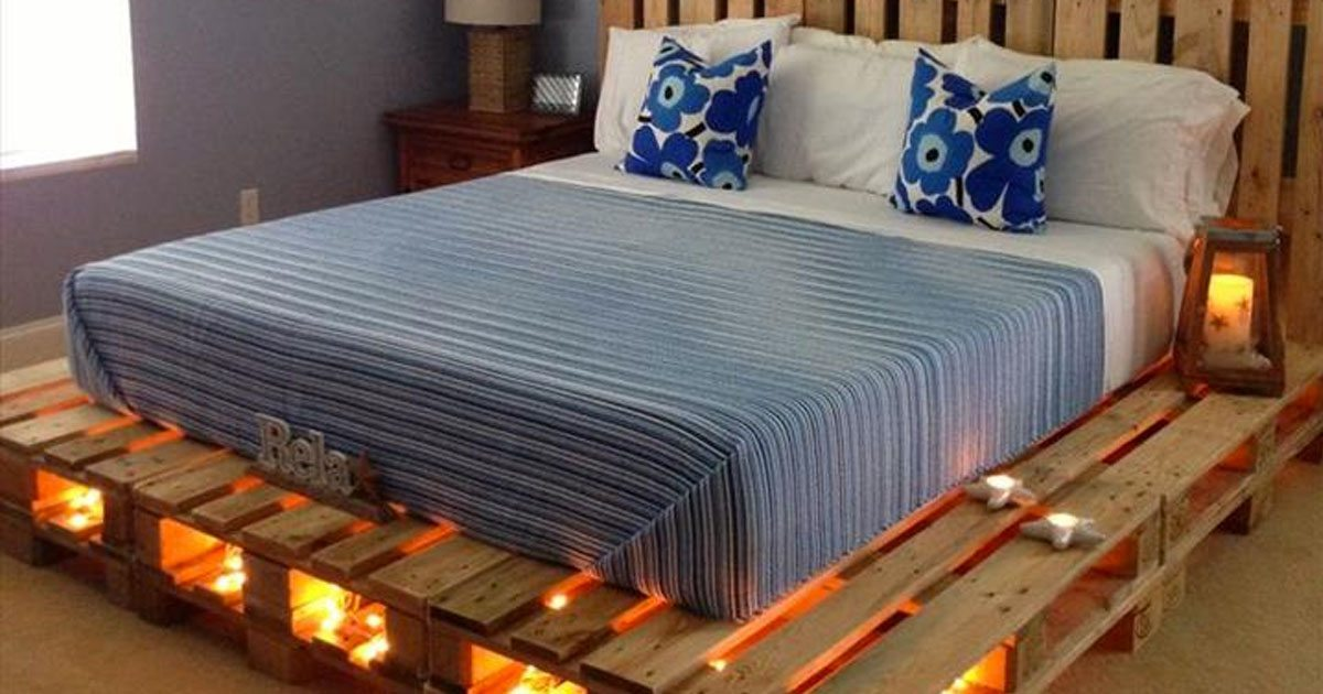 Bett Aus Paletten Bauen 140x200 Why Buy A Bed When You Can Use Pallets To Make One? Here