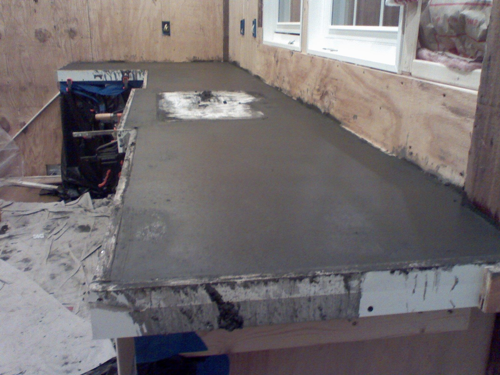 How To Build A Laminate Countertop Diy Concrete Countertop Over Laminate Surface